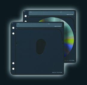 Magma-bags Medi CD Sleeve 25 Refill Set (srebrny/antracyt)